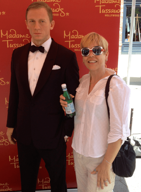 James Bond and Jay at Madame Tussauds Brit Week