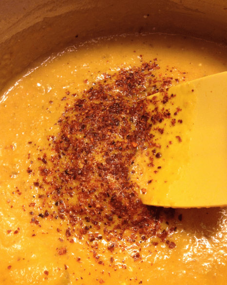 Roasted Carrot and Red Pepper Spice Soup