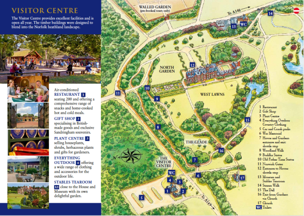 Sandrigham House Museum and Garden Map and Brochure