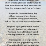 Poem A quiet place to write in Gumusluk Roving Jay