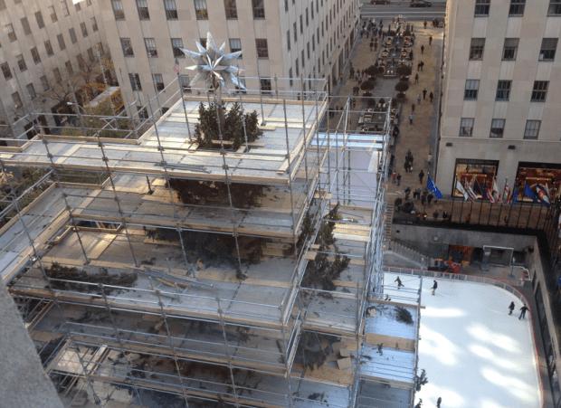 Christmas Tree in Rockefeller Center Plaza