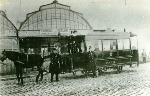 Paardentram, 16, Station Maas, ca. 1900