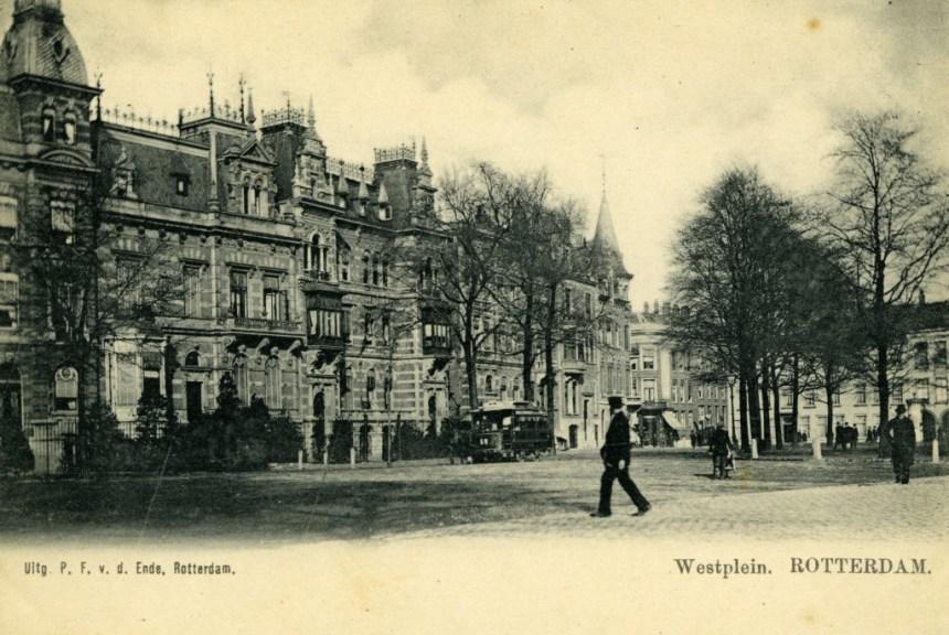 Paardetram 69, Westplein, ca. 1900