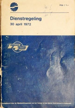 TP-dienstregelin 30-4-1972