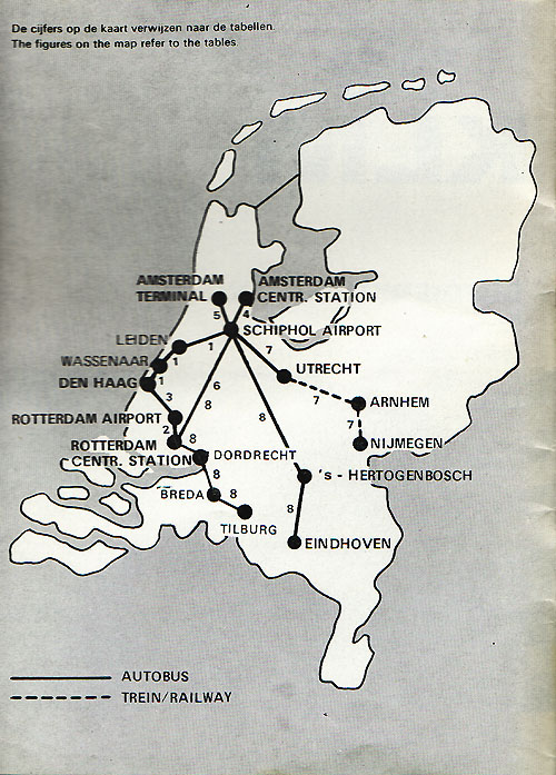 klm lijnen 1970