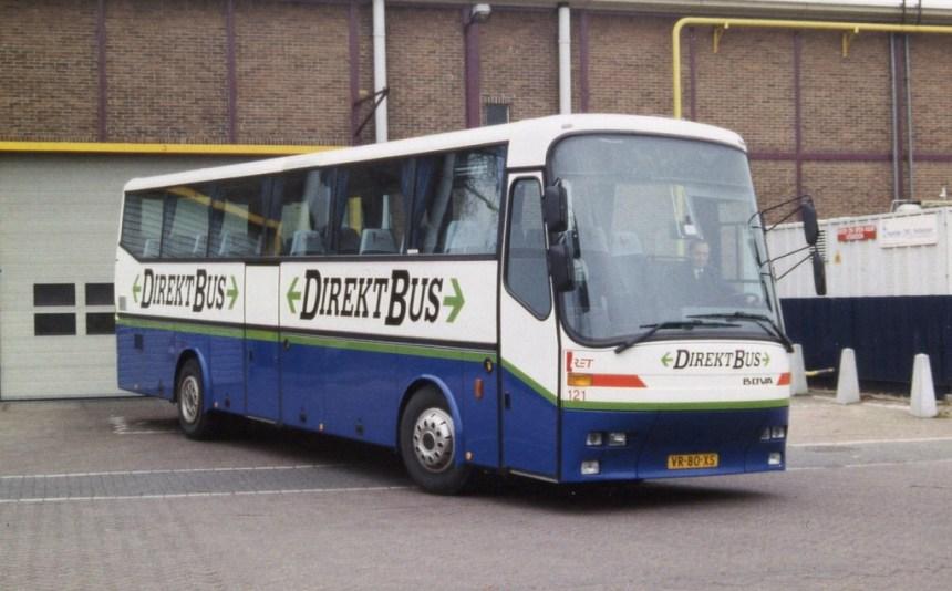 Bus 121 Directbus over naar Evenementenvervoer
