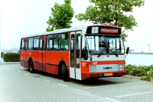Bus 127 ex 318 serie CSA-II DAF-Hainje, Willem Egmondstraat, 20-8-2001