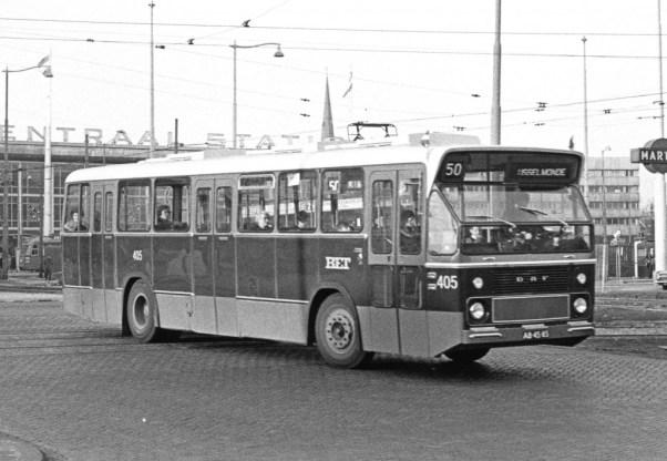 Bus 405, CSA-1, lijn 50, Weena, 1967