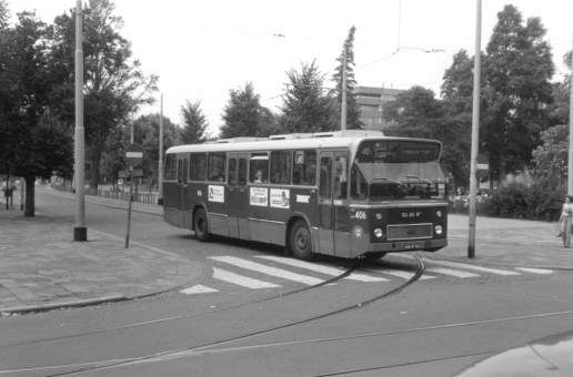 Bus 406, DAF CSA-1, lijn 46, Heemraadssingel-Nieuwe Binnenweg, 1978