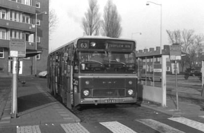 Bus 421, DAF CSA-1, lijn 63, Busstation Oudewal, 1968