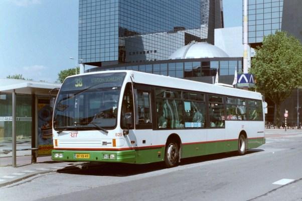 Bus 825, DAF Alliance City, lijn 38, Weena, 1997