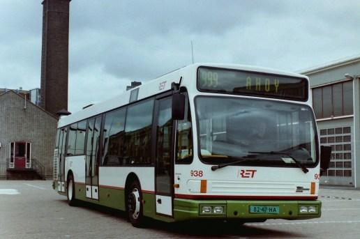 Bus 938, de laatste door Den Oudsten gebouwde DAF-Alliance, Sluisjesdijk, 2001