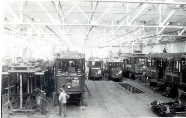 De werkplaats in de jaren zestig.