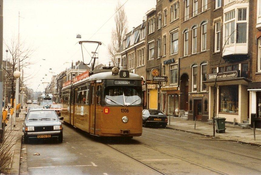 Motorrijtuig 1306, lijn 8, Nieuwe Binnenweg