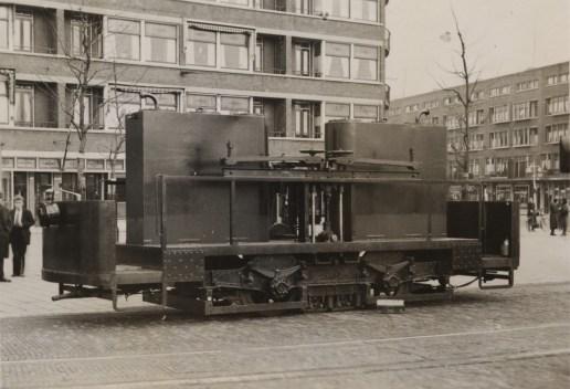 Railslijper, aanhangrijtuig, Marconiplein, 1931