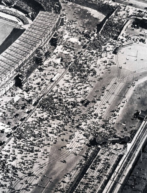 Luchtfoto Olympiaweg, Feijenoord stadion, ca. 1942