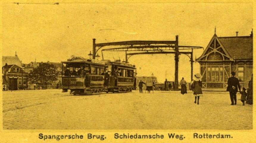 AHR 321, lijn 8, Spangense brug, ca. 1910