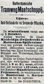 19040924 Winterdienstregeling. (RN)