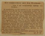 19260822 lijn 2 zal tijdelijk verdwijnen, verzameling Hans Kaper