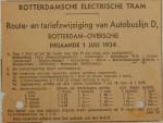 19340701 Tariefswijziging buslijn Overschie, Verzameling Hans Kaper