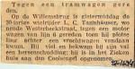 19341127 Tegen tramwagen gereden Willemsbrug