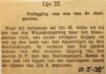 19350522 Verlegging eindpunt lijn 22