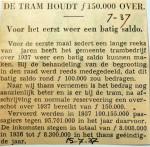 19370715 Voor het eerst weet een batig saldo