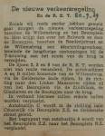 19390920 de nieuwe verkeersregeling, verzameling Hans Kaper