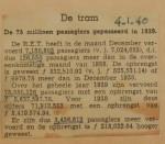 19400104 resultaten RET december, verzameling Hans Kaper