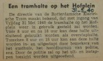 19400531 tramhalte Hofplein weer in bedrijf, verzameling Hans Kaper