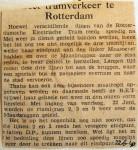19400622 Meer tramverkeer te Rotterdam