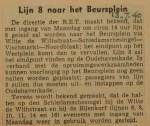 19400713 lijn 8 naar het Beursplein, verzameling Hans Kaper