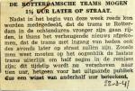 19410322 Rotterdamse trams 1,5 uur later op straat