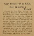 19420129-geen-bussen-meer-op-zondag, verzameling Hans Kaper