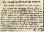 19420530 De tram gaat later rijden