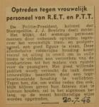 19430720-optreden-tegen-vrouwelijk-personeel, verzameling Hans Kaper