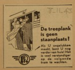 19431108-Advertentie-De-treeplank-is-geen-staanplaats, verzameling Hans Kaper