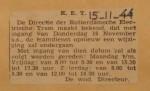 19441115-Beperking-dienst-tot-spitsuren, Verzameling Hans Kaper