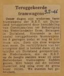 19460509-Weer-twee-trams-terug, Verzameling Hans Kaper