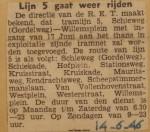 19460614-Lijn-5-gaat-weer-rijden, Verzameling Hans Kaper