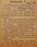 19460814-Autobuslijn-P, Verzameling Hans Kaper