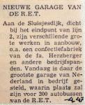 19470410 Nieuwe garage van de RET