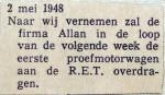 19480502 Volgende week overdacht Allan-rijtuig