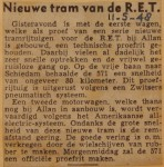 19480511-Nieuwe-tram-voor-de-RET, Verzameling Hans Kaper