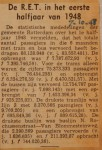 19481007-Resultaten-RET-1e-halfjaar-1948, Verzameling Hans Kaper