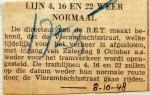19481008 Lijnen 4, 16 en 22 weer normaal
