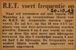 19491020-RET-voert-frequentie-op, Verzameling Hans Kaper