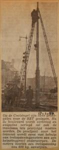 19500117-Nieuwe-bovenleidingpalen-Coolsingel, Verzameling Hans Kaper