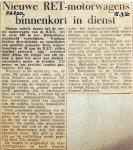 19500915 Nieuwe motorwagens binnenkort in dienst (Parool)