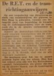 19501125-Tramrichtingaanwijzers, Verzameling Hans Kaper